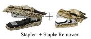 Novelty Guardian Skull Dragon Stapler and Stapler Remover Office Desktop Stationery Set