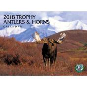 2018 Trophy Antlers and Horns Wall Calendar, Deer by Silver Creek Press