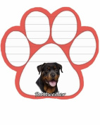 Rottweiler Dog Paw Magnetic Note Pad