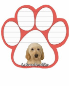 Labradoddle Dog Paw Magnetic Note Pad