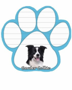 Border Collie Dog Paw Magnetic Note Pad