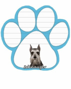 Schnauzer Dog Paw Magnetic Note Pad