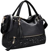 Coofit Womens Patent Leather Tote Handbag Shoulder Bag Messenger Bags