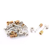 Unique Bargains 12pcs Furniture Connecting 15mm Cam Fittings + Pre-inserted Nuts + Dowels Sets