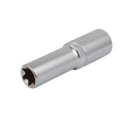 E16 77mm Long 1/2-inch Square Drive Cr-V Torx Impact Socket Silver Tone