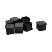 Unique Bargains 8 Pcs Square Rubber Furniture Table Foot Cover Pad Floor Protector 20mm x 20mm