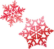 Couture Creations Let Every Day Be Christmas Hotfoil Stamp-Snowflakes 4.3cm x 3cm