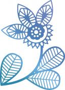 Ultimate Crafts Bohemian Bouquet Hotfoil Stamp 5.1cm x 7.1cm -Traditional Floral