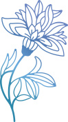 Ultimate Crafts Bohemian Bouquet Hotfoil Stamp 5.3cm x 9.7cm -Blooming Flowers