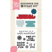 Echo Park Die & Stamp Combo Set-Winter Greetings