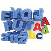SUPER VALUE CAPITAL AND LOWER CASE LETTERS DIP PRINT PAINTING SPONGES