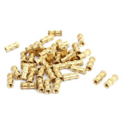 M2x8mmx3.5mm Brass Knurled Threaded Nut Insert Embedded Nuts Gold Tone 40pcs
