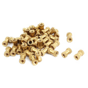 Unique Bargains M3x8mmx5mm Female Threaded Brass Knurled Insert Embedded Nuts Gold Tone 40pcs