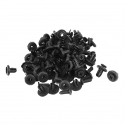 Toyota Car Door Fender 13mm Stem 6mm Hole Black Plastic Rivets Fasteners 50 Pcs