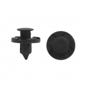 40 Pcs Black 8mm Hole Plastic Rivets Fastener Push Pin Clips for Fender Bumper