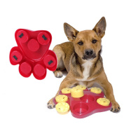 Dog Food Treat Dispensing Boredom Interactive Game Puzzle Training Finder Toys, iMichelle Paw Hide Treats Toy Slow Feeder Bowl Helps Prevent Bloating/Upset/Diarrhoea,Entertaining and Brain-Engaging
