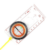 Liquid Field Compass Map Compass Navigation Compass Professional with Necklace for Navigation, Orienteering and Survival