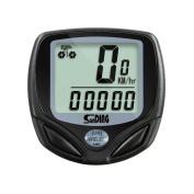 HERME Waterproof Wireless LCD Digital Bicycle Computer Speedometer Odometer