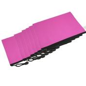 12 Pcs Hand Strap Design Fuchsia Nylon B5 Note Paper Book Bag