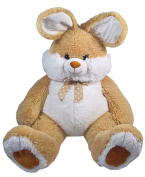Heunec 839878 Large Floppy Rabbit with Ribbon 85 cm, Brown