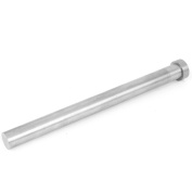 Unique Bargains 16mm Tip Steel Straight Ejector Pins Die Thimble 200mm Long Silver Grey