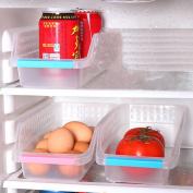 DAYNECETY 3pcs Refrigerator Freezer Drawers Basket Storage Kitchen Fridge Space Saver Storage Rack Boxes Stand Basket Container