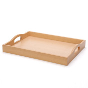 CJH European Rectangular Wooden Tray Creative Cup Tea Tray Plate Dessert Fruit Plate Cutlery Plate