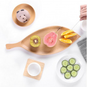 CJH Wooden Modern Fashion Creative Home Personality Fruit Plate Living Room Dried Fruit Plate Seeds Melon Snacks Candy Dish