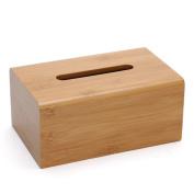 CJH Creative Bamboo Tissue Box European Paper Box Home Storage Napkin Box Home Living Room Simple Pumping Paper Box Wood