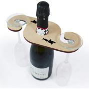 'Killer Whale' Wooden Wine Glass / Bottle Holder