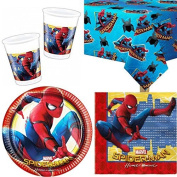 Spiderman Homecoming Party Tableware Pack for 8
