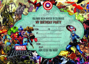 Boys Super hero, Marvel hero,Super Marvel hero Birthday Party Invitations X10 CARDS