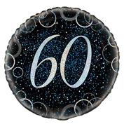 46cm Glitz Blue Foil 60th Birthday Balloon