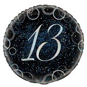 46cm Glitz Blue Foil 13th Birthday Balloon