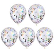 Sharplace 5 PCS 30cm Large Helium Float Balloon Colourful Confetti Balloons Birthday Wedding Party Latex Balloons 30cm