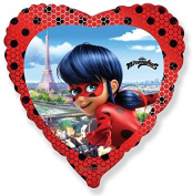 Miraculous 46cm Heart Shape Foil Balloon