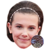 Millie Bobby Brown Celebrity Mask, Card Face and Fancy Dress Mask