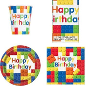 Building Blocks Party Tableware Pack for 8