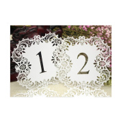 Lalang 10pcs Laser Cut Wedding Party Table Number Cards Dinner Table Decoration