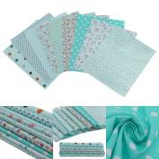 9pcs Cotton Fabric Patchwork Mixed Bundle Sewing Craft 20cm x 25cm,Random Pattern