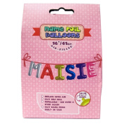 "Name Foil Balloons 16""/41cm Air Filled 'Maisie'"