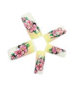 Skyeye 10 Pcs Fashion Flower Design Decoration Women Stickers Nail Art Supplies