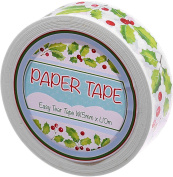 Roll of Duct Tape colourful Print ~ Holly ~ 10 m Long, 1.5 cm wide. For Christmas, Arts and Crafts, Scarpbo Oking Decorative Gifts, Etc.