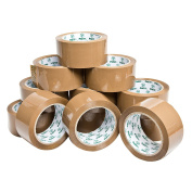 PAKIT 12 Brown Packing Tape Rolls Value Pack | 12 Rolls of Heavy Duty, Commercial Grade 1.88 inches X 72 yards (48mm x 66M) Clear Tape for Packaging, Boxing, Moving & Shipping