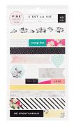 Pink Paislee C'est La Vie Washi Tape Sheets 310124