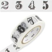 Masking Tape 15 mm Number/Symbol Black x10m