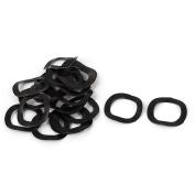 20 Pcs Black Metal Wave Crinkle Spring Washer 10mm x 15mm x 0.3mm