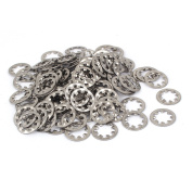 M8 304 Stainless Steel Internal Tooth Star Lock Washers 50 Pcs