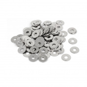 100pcs M6x18mmx1.5mm Stainless Steel Metric Round Flat Washer Fastener