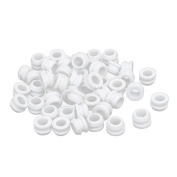Rubber Ring Sealing Grommet Electrical Wiring Gasket White 6mm Inner Dia 50pcs